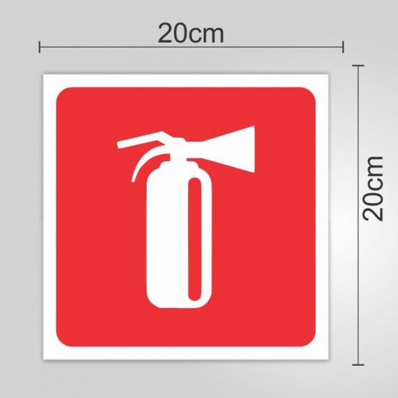 PLACA PVC ADESIVADO - EXTINTOR 20cmX20cm
