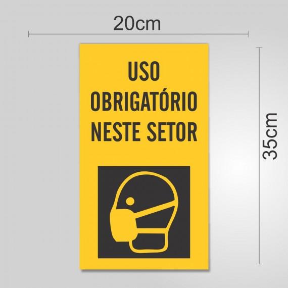 PLACA PVC ADESIVADO 20cmX35cm - SINALIZAÇÃO EPI