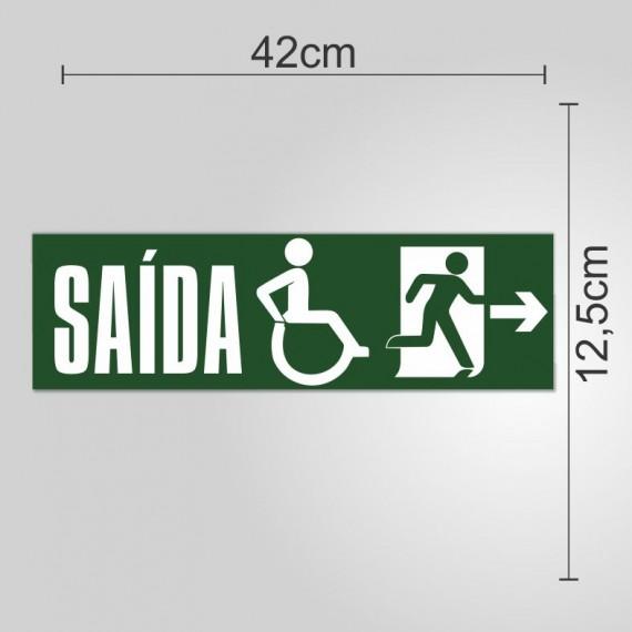 PLACA PVC ADESIVADO 12,5cmX42cm - SINALIZAÇÃO SAIDA