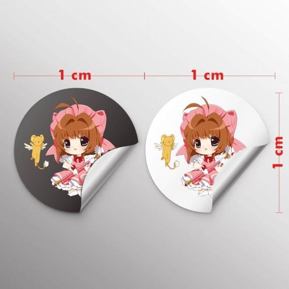 Adesivo Papel 1x1 cm com corte especial