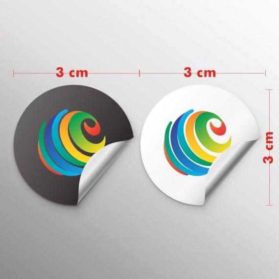 Adesivo papel 3x3 cm com corte especial
