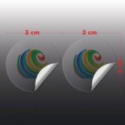 Adesivo Vinil Transparente 3x3 cm com corte especial