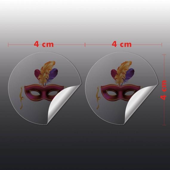 Adesivo Vinil Transparente 4x4 cm com corte especial