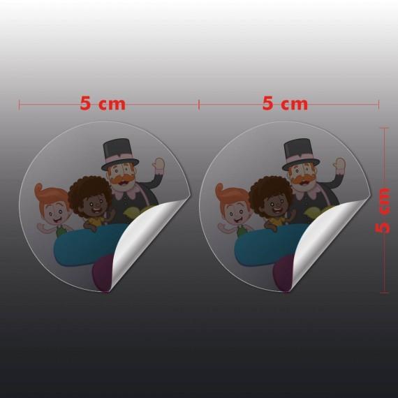 Adesivo Vinil Transparente 5x5 cm com corte especial