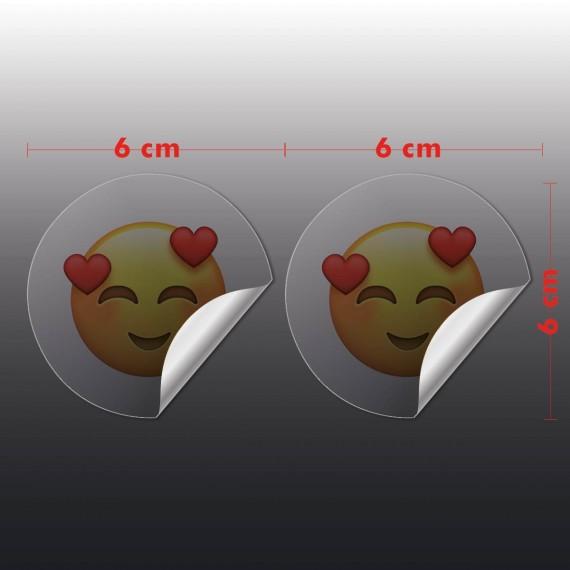 Adesivo Vinil Transparente 6x6 cm com corte especial