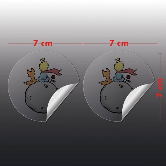 Adesivo Vinil Transparente 7x7 cm com corte especial