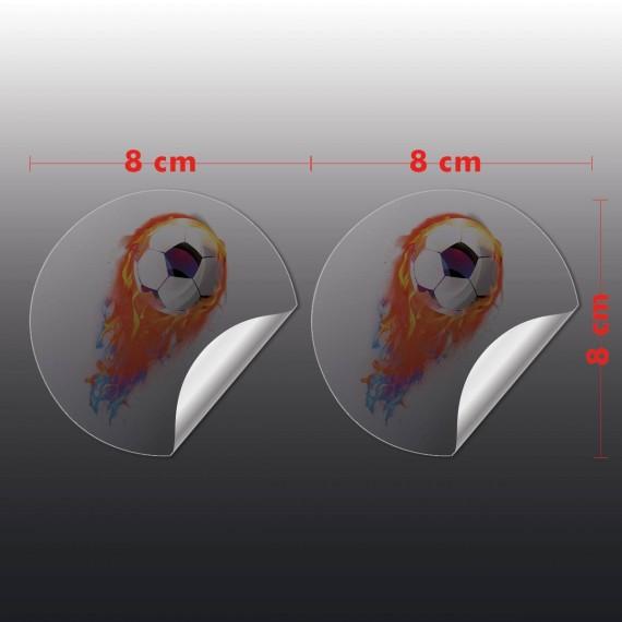 Adesivo Vinil Transparente 8x8 cm com corte especial