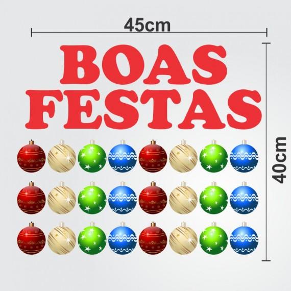 ADESIVO VINIL RECORTADO PARA VITRINE BOAS FESTAS 45X40