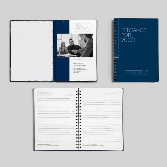Caderno 20x28 cm - Capa e miolo personalizados