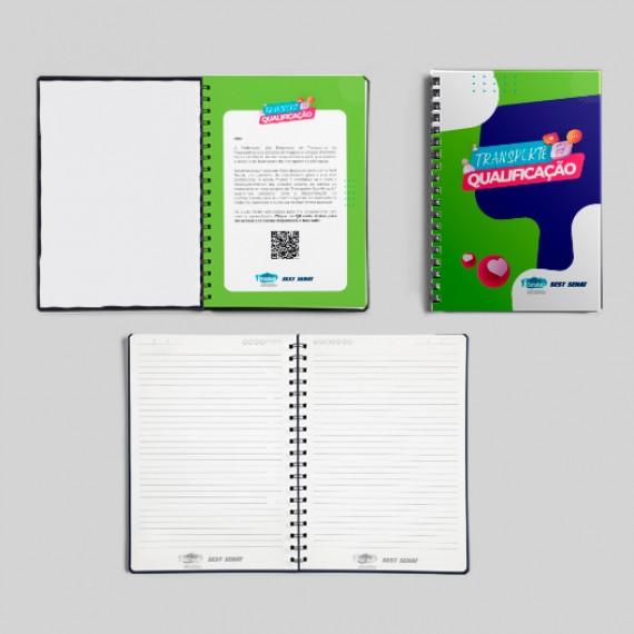 Caderno A5 (14,8x21 cm) - Capa e miolo personalizados