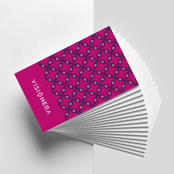 Cartão de visita colorido frente e verso com laminação brilho