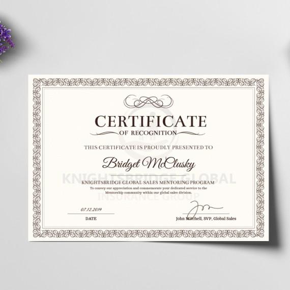 Certificado A4 Aspen 250gr 4x1 cores