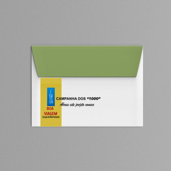 Envelope 11,4x16,2 cm - Colorido - Apergaminhado 120 gr