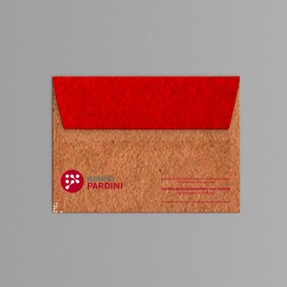 Envelope 11,4x16,2 cm - 2 cores - Kraft 110 gr
