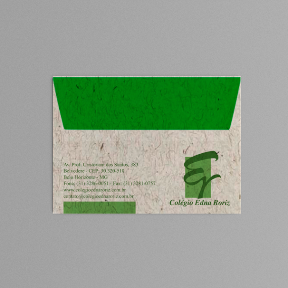 Envelope 11,4x16,2 cm - 2 cores - Reciclato 120 gr
