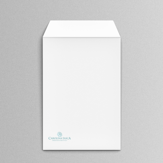 Envelope 18,4x25 cm - 1 cor - Apergaminhado 120 gr