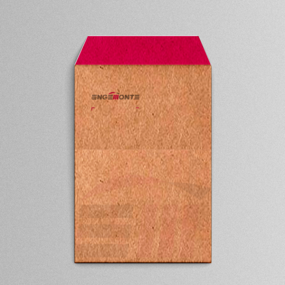 Envelope 18,4x25 cm - 2 cores - Kraft 110 gr
