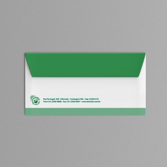 Envelope 11,4x22,9 cm - 1 cor - Apergaminhado 120 gr