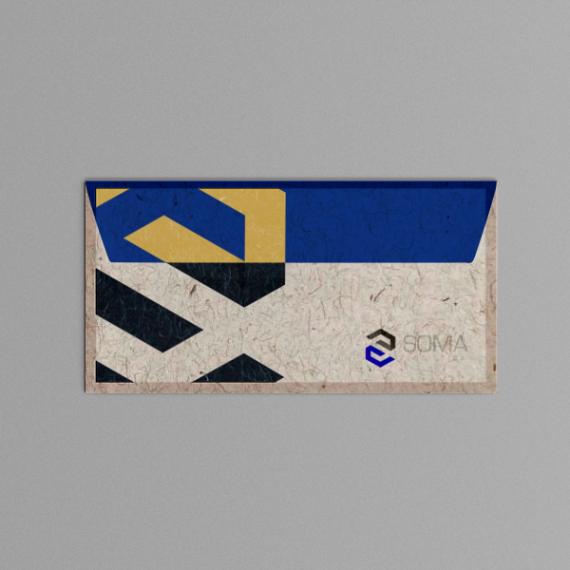 Envelope 11,4x22,9 cm - Colorido - Reciclato 120 gr