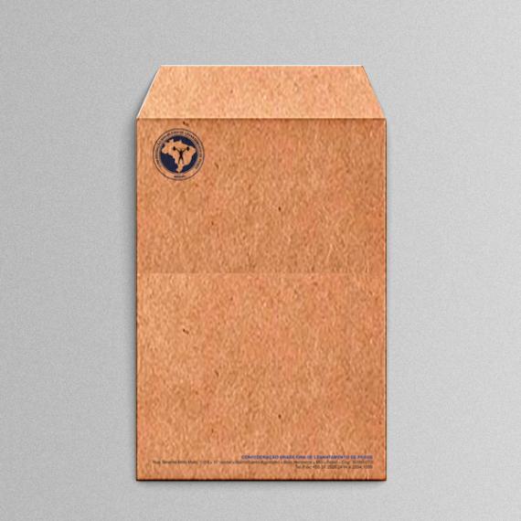 Envelope 25x35 cm - 2 cores - Kraft 110 gr