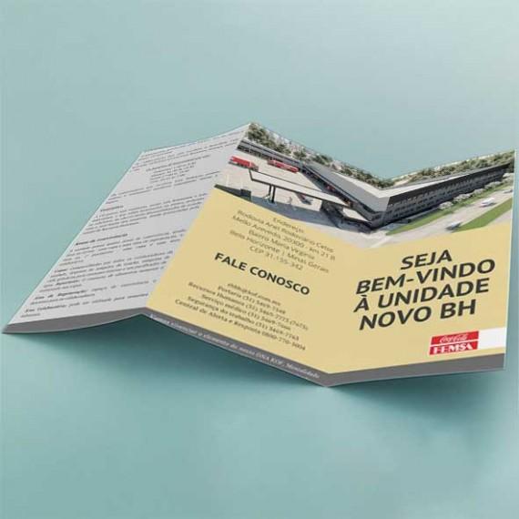Folder 21x29,7 cm - Colorido Frente e Verso - Couché Fosco 115 gr