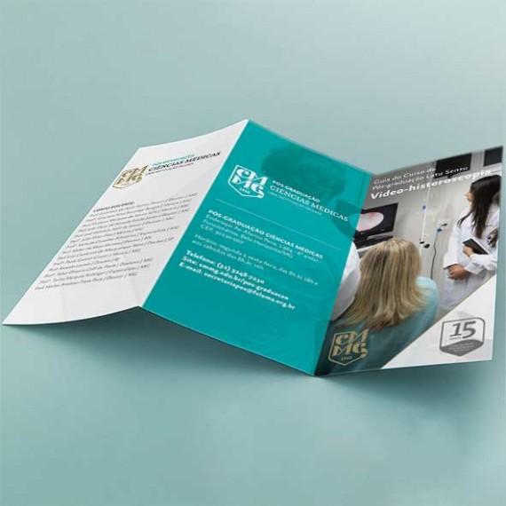 Folder 21x29,7 cm - Colorido Frente e Verso - Couché Fosco 150 gr