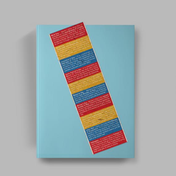 Marcador de Página - Colorido Frente - Reciclato