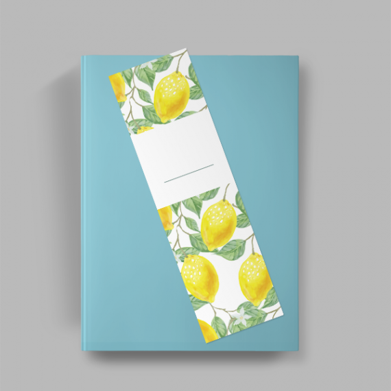Marcador de Página - Colorido Frente e Verso - Simples