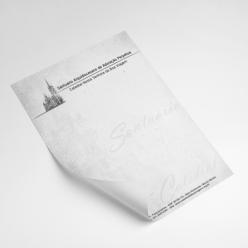 Timbrado 21x29,7 cm - Preto e branco - Apergaminhado ou Reciclato 90 gr
