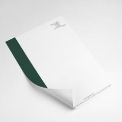 Timbrado 21x29,7 cm - 2 cores - Apergaminhado ou Reciclato 90 gr
