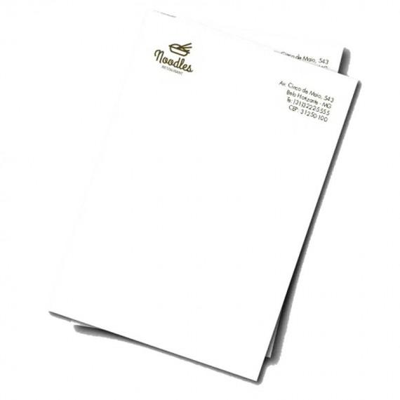 Papel Timbrado 1 cor - 21 x 29.7 cm