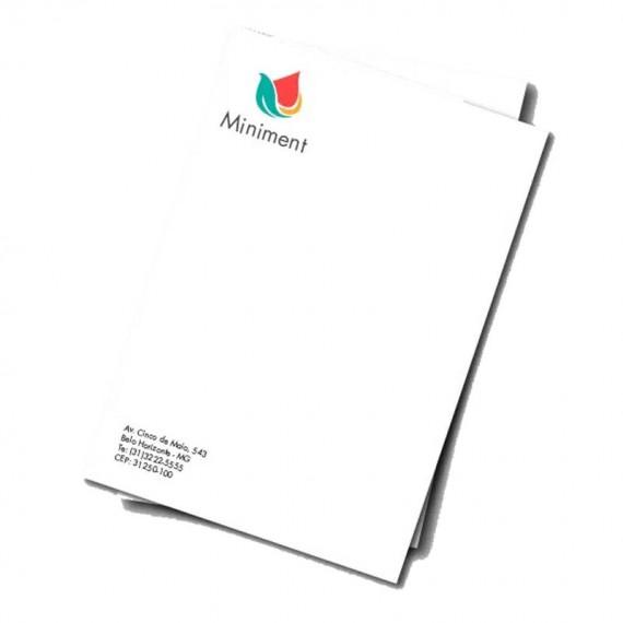 Papel Timbrado Colorido na Frente - 21 x 29.7 cm