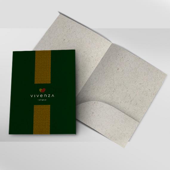 Pasta com bolsa - Colorida - Reciclato 240gr